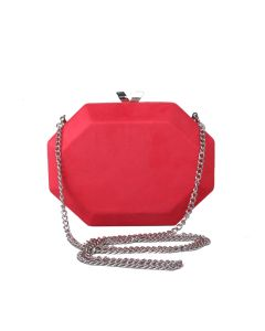 PP110 RED - Suede Effect Red Magnetic Clutch