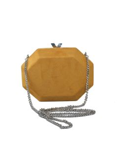 PP110 YELLOW - Suede Effect Yellow Magnetic Clutch