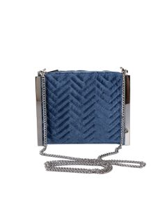 PP115 BLUE - Blue Quilted Cross Body Bag