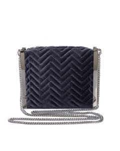 PP115 GREY - Grey Quilted Cross Body Bag