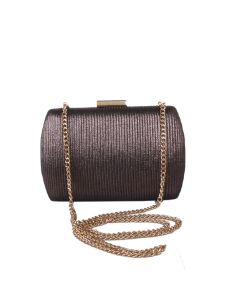 PP123 CHAMPAGNE - Champagne Shimmer Structured Clutch