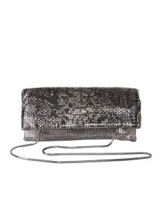 PP124 GOLD - Gold Two Tone Foldover Clutch