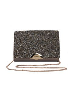 PP126 GOLD - Gold Beaded Clutch