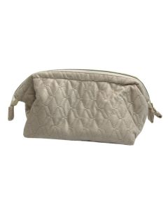 PP131 BEIGE - Large Beige Soft to Touch Make up Bag