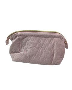 PP131 PINK - Pink Soft To Touch Large Make Up Bag