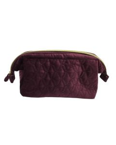 PP131 PURPLE - Large Soft To Touch Make Up Bag
