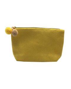 PP134 YELLOW - Medium Yellow Make Up Bag