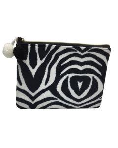 PP137 ZEBRA - Medium Zebra Make Up Bag