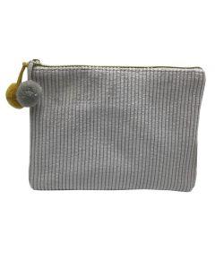PP138 GREY - Small Grey Make Up Bag