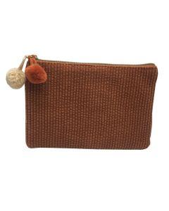 PP138 ORANGE - Small Orange Make Up Bag