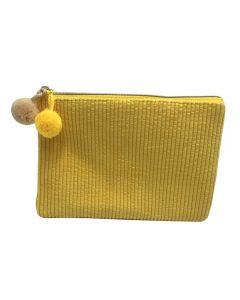 PP138 YELLOW - Small Yellow Make Up Bag