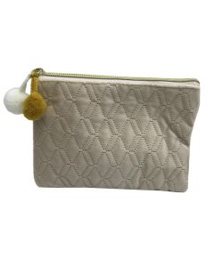 PP139 BEIGE - Small Beige Make Up Bag