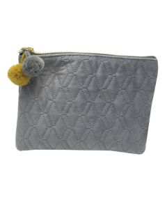 PP139 GREY - Small Grey Make Up Bag