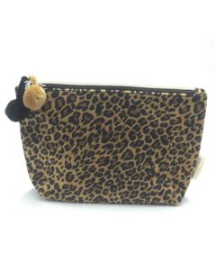 PP141 LEOPARD - Small Leopard Make Up Bag