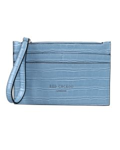 PP143 BLUE - Blue Croc Effect Purse