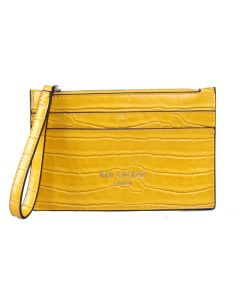 PP143 YELLOW - Yellow Croc Effect Purse