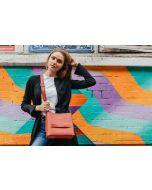 657 RED - Red Front Zipper Pocket Cross Bag